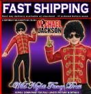 BOYS MICHAEL JACKSON DELUXE RED MILITARY JACKET SMALL AGE 3-4